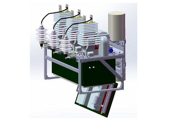 17.5kV overhead pole mounted primary metering unit, JLSZXW8-17.5 Combined Transformer